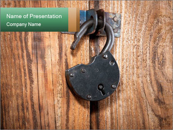 Old padlock PowerPoint Templates - Slide 1