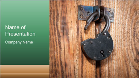 Old padlock PowerPoint Template