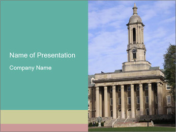 Old Main Building PowerPoint Template - Slide 1