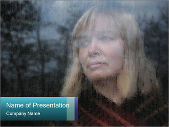 Middle-aged woman PowerPoint Template - Slide 1