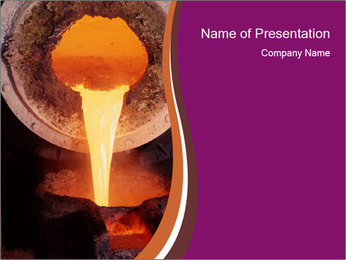 Pouring of liquid metal PowerPoint Template - Slide 1