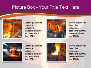 Pouring of liquid metal PowerPoint Template - Slide 14