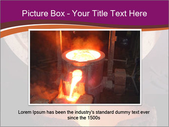Pouring of liquid metal PowerPoint Template - Slide 15