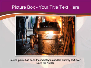 Pouring of liquid metal PowerPoint Template - Slide 16