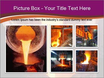 Pouring of liquid metal PowerPoint Template - Slide 19