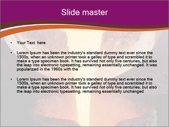 Pouring of liquid metal PowerPoint Template - Slide 2