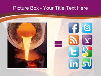 Pouring of liquid metal PowerPoint Template - Slide 21