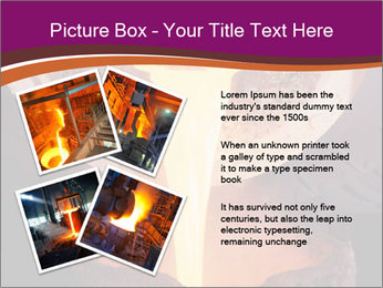 Pouring of liquid metal PowerPoint Template - Slide 23