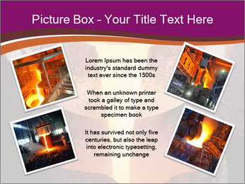 Pouring of liquid metal PowerPoint Template - Slide 24