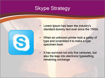 Pouring of liquid metal PowerPoint Template - Slide 8