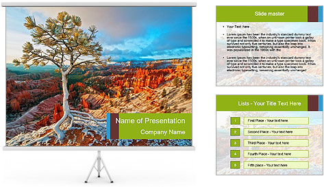 Snow storm PowerPoint Template