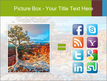 Snow storm PowerPoint Template - Slide 21