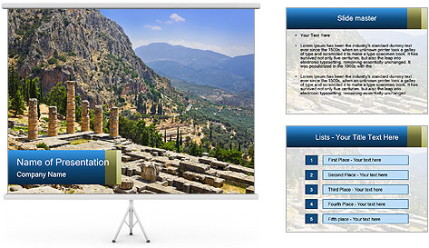 Ruins of Apollo temple PowerPoint Template