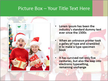 Four children in Christmas PowerPoint Template - Slide 13