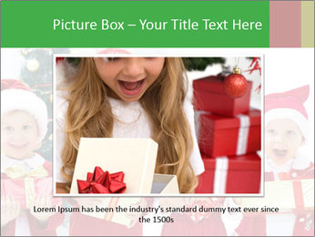 Four children in Christmas PowerPoint Template - Slide 15