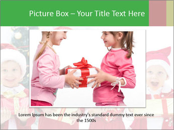 Four children in Christmas PowerPoint Template - Slide 16