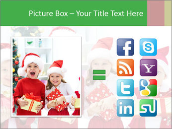 Four children in Christmas PowerPoint Template - Slide 21
