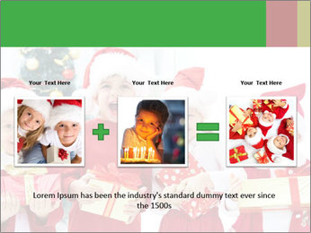 Four children in Christmas PowerPoint Template - Slide 22