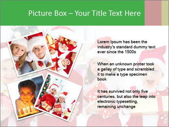 Four children in Christmas PowerPoint Template - Slide 23