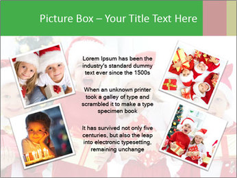 Four children in Christmas PowerPoint Template - Slide 24
