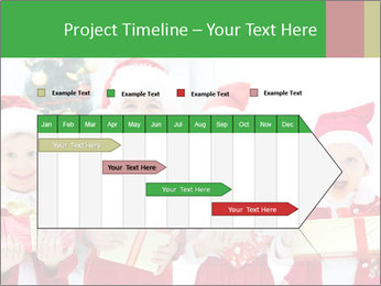 Four children in Christmas PowerPoint Template - Slide 25