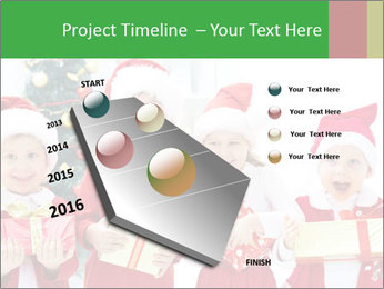 Four children in Christmas PowerPoint Template - Slide 26
