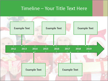 Four children in Christmas PowerPoint Template - Slide 28