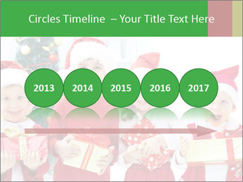 Four children in Christmas PowerPoint Template - Slide 29