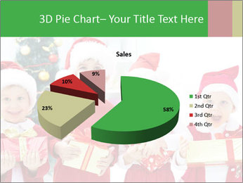 Four children in Christmas PowerPoint Template - Slide 35