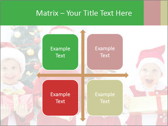 Four children in Christmas PowerPoint Template - Slide 37
