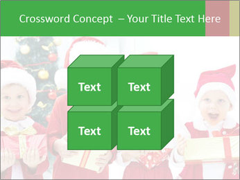Four children in Christmas PowerPoint Template - Slide 39