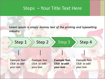 Four children in Christmas PowerPoint Template - Slide 4