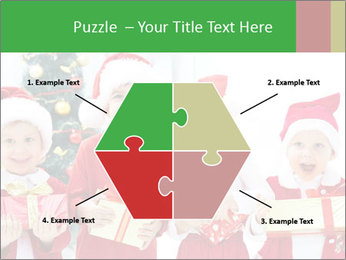 Four children in Christmas PowerPoint Template - Slide 40