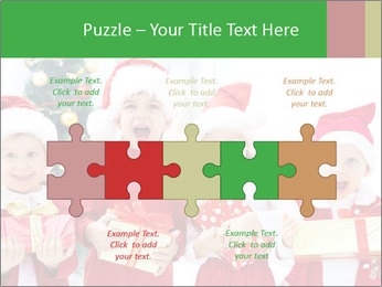 Four children in Christmas PowerPoint Template - Slide 41