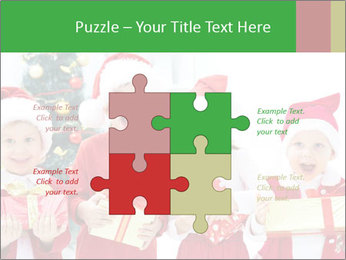 Four children in Christmas PowerPoint Template - Slide 43