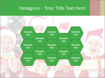 Four children in Christmas PowerPoint Template - Slide 44
