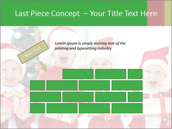 Four children in Christmas PowerPoint Template - Slide 46