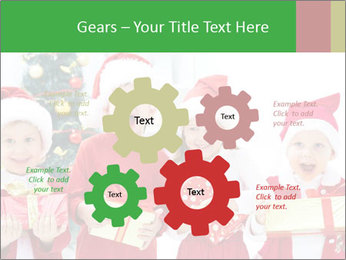 Four children in Christmas PowerPoint Template - Slide 47