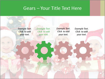 Four children in Christmas PowerPoint Template - Slide 48