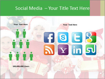 Four children in Christmas PowerPoint Template - Slide 5