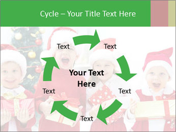 Four children in Christmas PowerPoint Template - Slide 62
