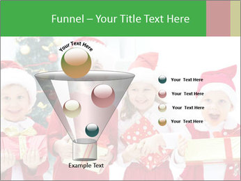 Four children in Christmas PowerPoint Template - Slide 63