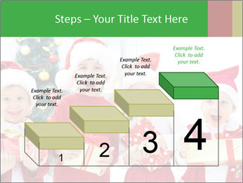 Four children in Christmas PowerPoint Template - Slide 64