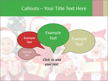 Four children in Christmas PowerPoint Template - Slide 73