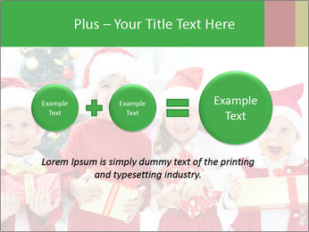 Four children in Christmas PowerPoint Template - Slide 75