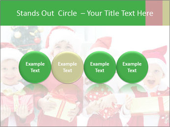 Four children in Christmas PowerPoint Template - Slide 76