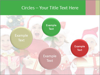 Four children in Christmas PowerPoint Template - Slide 77