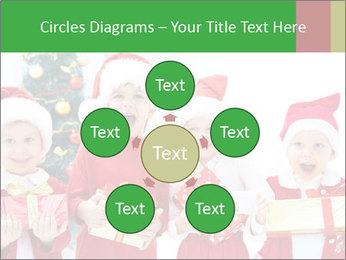 Four children in Christmas PowerPoint Template - Slide 78