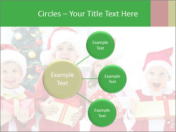 Four children in Christmas PowerPoint Template - Slide 79