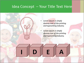 Four children in Christmas PowerPoint Template - Slide 80